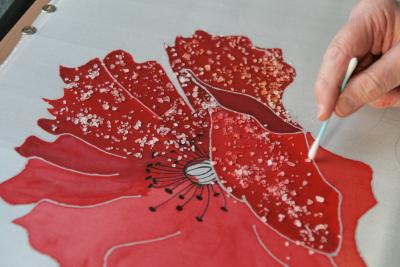Peinture sur soie for Technique de peinture sur soie en video
